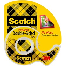 MMM 137 3M Scotch Double-Sided Tape w/Dispensers MMM137