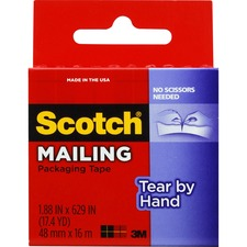 MMM 3841 3M Scotch Mailing Tear By Hand Packaging Tape MMM3841