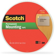 MMM401612 - Scotch Double-Coated Foam Mounting Tape