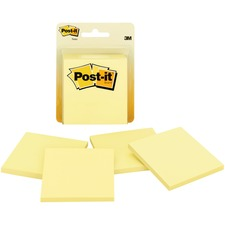 MMM 5400 3M Post-it Canary Clamshell Pk Original Note Pads  MMM5400