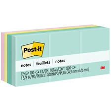 MMM 653AST 3M Post-it Notes Pastel Original Pads MMM653AST