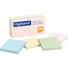 MMM 6549A 3M Highland Assorted Plain Notepads MMM6549A