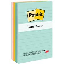 MMM 6605PKAST 3M Post-it Marseille Lined Notes Value Pack MMM6605PKAST