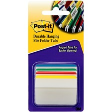 "MMM 686A1 3M Post-it Durable 2"" Angled File Tabs MMM686A1"