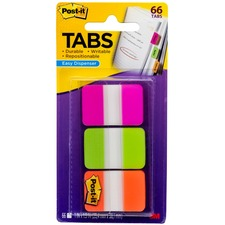 MMM 686PGO 3M Post-it Assorted Durable Index Tabs MMM686PGO