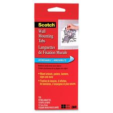 MMM 7220 3M Scotch Removable Wall Mounting Tabs MMM7220