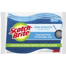 MMM MP3 3M Scotch-Brite No Scratch Scrub Sponges MMMMP3