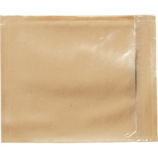 "3M Plain Back Loading Packing List Envelopes - Packing List - 5 1/2"" Width x 4 1/2"" Length - Self-sealing - 1000 / Box - Clear"