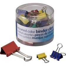 OIC 31026 Officemate Assorted Color Binder Clips OIC31026