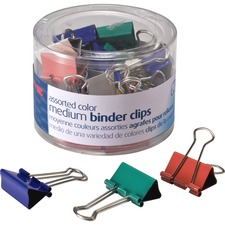 OIC 31029 Officemate Assorted Color Binder Clips OIC31029