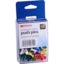 OIC 92610 Officemate Plastic Precision Push Pins OIC92610