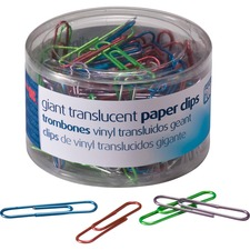 OIC 97212 Officemate Translucent Vinyl Paper Clips OIC97212