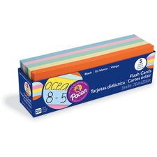 PAC 74150 Pacon Assorted Colors Blank Flash Cards PAC74150