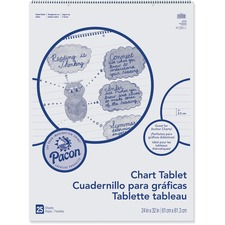 PAC 74610 Pacon Ruled Chart Tablet PAC74610