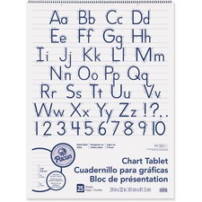 PAC 74710 Pacon Ruled Manuscript Chart Tablet PAC74710