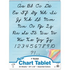 PAC 74731 Pacon Cursive Cover Colored Paper Chart Tablet PAC74731