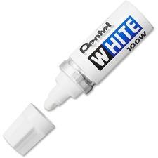 PEN 100W Pentel Felt Tip White Markers PEN100W