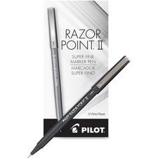 PIL 11009 Pilot Super Fine Point Razor II Markers PIL11009