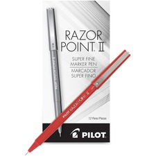 PIL 11011 Pilot Super Fine Point Razor II Markers PIL11011
