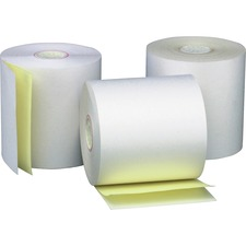 PMC 08789 PM Company 2-ply White Canary Cash Register Rolls PMC08789