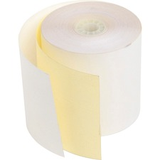 PMC 08793 PM Company 2-ply White/Canary Cash Register Rolls PMC08793