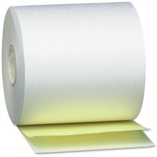PMC 08963 PM Company 2-ply White/Canary Teller Paper Rolls PMC08963