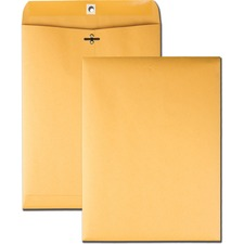QUA 37790 Quality Park Deeply Gummed Kraft Clasp Envelopes QUA37790