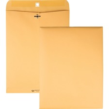 QUA 37797 Quality Park Deeply Gummed Kraft Clasp Envelopes QUA37797