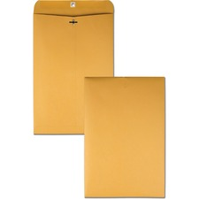 QUA 37798 Quality Park Deeply Gummed Kraft Clasp Envelopes QUA37798