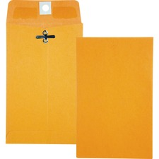 QUA 37815 Quality Park Gummed Kraft Clasp Envelopes QUA37815