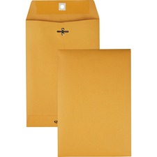 QUA 37863 Quality Park Gummed Kraft Clasp Envelopes QUA37863