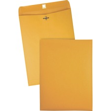 QUA 37890 Quality Park Gummed Kraft Clasp Envelopes QUA37890