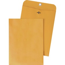 QUA 37894 Quality Park Gummed Kraft Clasp Envelopes QUA37894