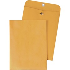 QUA 37905 Quality Park Gummed Kraft Clasp Envelopes QUA37905