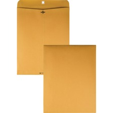 QUA 37910 Quality Park Gummed Kraft Clasp Envelopes QUA37910