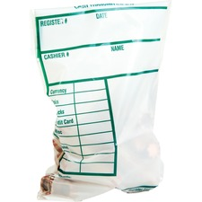 QUA 45220 Quality Park Cash Transmittal Bags w/Redi-Strip QUA45220