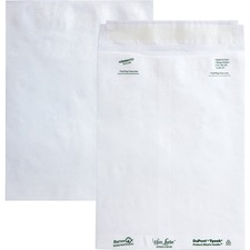 QUA R3120 Quality Park White Leather Tyvek Plain Envelopes QUAR3120