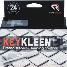 Read Right Pre-Moistened KeyKleen Swabs - Pre-moistened - 24 / Box