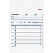 RED 5L320 Rediform 2-Part Carbonless Sales Forms  RED5L320