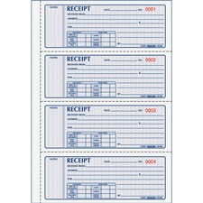 RED 8L808 Rediform 3-pt Carbonless Money Receipt Book RED8L808