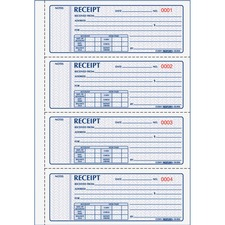 RED 8L816 Rediform Money Receipt 4 Per Page Collection Forms RED8L816