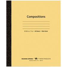 ROA 77308 Roaring Spring Plain Cover Tapebound Comp Notebook ROA77308
