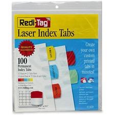 RTG 33120 Redi-Tag Laser Printable Index Tabs  RTG33120