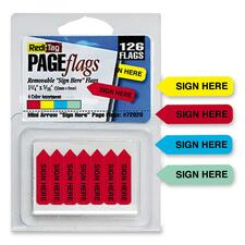 RTG 72020 Redi-Tag Sign Here Mini Arrows RTG72020