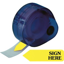 RTG 81014 Redi-Tag Sign Here Removable Flags In Dispenser RTG81014