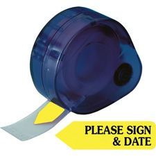 RTG 81124 Redi-Tag Please Sign and Date Arrows In Dispenser RTG81124