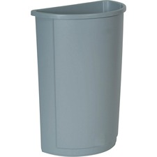 RCP 352000GY Rubbermaid Half Round Wastebaskets  RCP352000GY