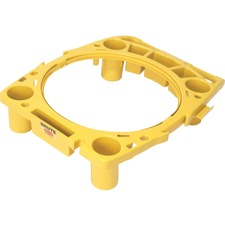 "Rubbermaid Commercial Brute Rim Caddy - 26.5"" Width x 6.8"" Depth x 32.5"" Height - Yellow"