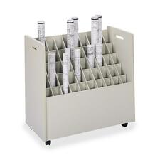 Safco 50-Compartment Mobile Roll File