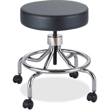 SAF 3432BL Safco Low Base Screw Lift Lab Stool SAF3432BL